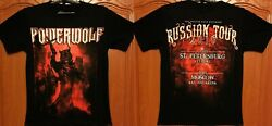 POWERWOLF Russian Tour 2016 RARE New Official Licensed Authentic T ShirtSabaton $24.99