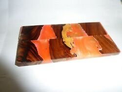 Ironwood knife blanks exotic Book matched set knife scales crafts with aluminite $24.99