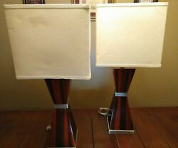 30quot; TALL ANTHONY CALIFORNIA PAIR LAMPS W SHADES $249.99