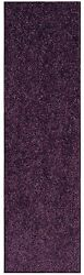 Solid Color Purple Custom Size Runner Area Rug