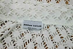 Jordan Taylor White Lace Beach Cover Up Shirt Button front Large $10.00
