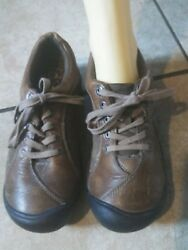 Keen Oxford Brown Leather Shoe Lace Up Hiking Women's 9M $44.00