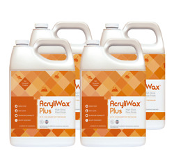 AcryliWax PLUS Commercial Floor Finish Case of 4 Gallons $81.62