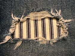 Navy Blue Railroad Stripe Peek a Boo Iron On patches Asst. Sizes Available $9.95