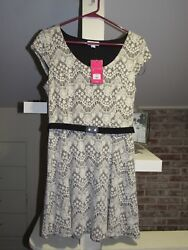 CANDIE#x27;S HOLIDAY DRESSES BLACK TIE WITH BELT $8.50