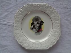 Vintage Lord Nelson Pottery Gray Poodle 8 1 2quot; Plate $9.99