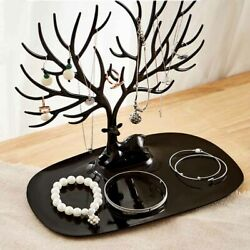 Jewelry Tree Stand Display Organizer Ring Earring Necklace Hanger Holder Rack