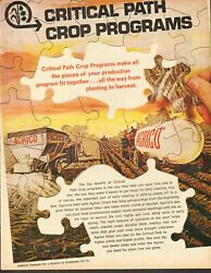 1969 LARGE Print Ad of Continental Oil Agrico Chemical Co Critical Path Crop $9.99