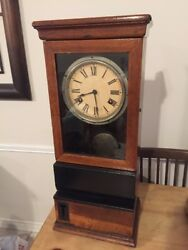 Antique International Time Recording Co.  IBM Time Punch Clock 1927 Chevrolet