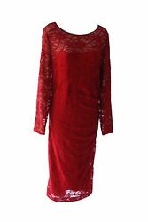 Ralph Lauren Lace Elegant Cocktail Plus Dress Knee Lenght Long Sleeves 20W $29.00