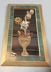 Stunning Bejeweled Topiary Art Piece Crafted By Carole Dooley Long $85.00