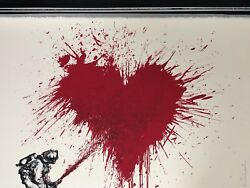 Mr Brainwash Art Print Love to the Rescue Not Banksy Valentines Day RARE!!!
