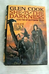 She is the Darkness - Glen Cook Glittering Stone 1st Edition Hardcover Book Two