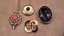 Vintage Pendants and Lockets Unsigned