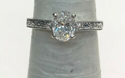 Lady's 14K White Gold and Diamond Engagement Ring
