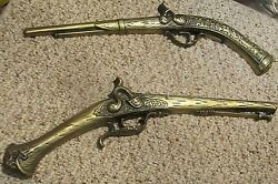 Pirate Pistols Decorative Metal Wall Decorations Realistic Detailed Japan Rare $40.00