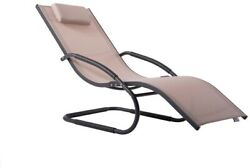 Matte Dark Grey Aluminum Outdoor Lounge Chair Zero Gravity in Macchiato Sling