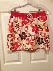WOMENS patagonia WATER GIRL FLORAL SWIMSUIT COVERUP SKIRT SIZE 6 $14.99