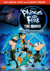Phineas And Ferb The Movie: Across The 2nd Dimension WS Digital Copy With 8 $5.09