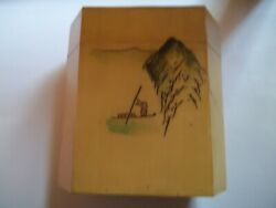 VINTAGE CHINESE TEA CADDY WOODEN BOX TEA