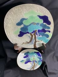 Pair Mid Century Ando Cloisonne Dishes $37.50