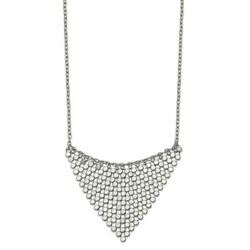 Chisel Stainless Steel Polished Fancy Dangle Necklace 17.75