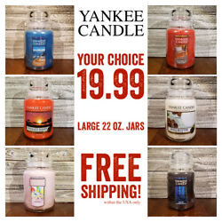 YANKEE CANDLE • Large Jars & Tumblers • EVERY SCENT $19.99 • FREE SHIPPING!