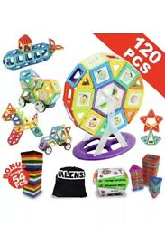 100 Box's Of Educational Magnetic 120pc Building Blocks+Gift For Children Age 3+