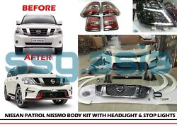 for Nissan Patrol Nismo Body Kit with Headlight and Stop Lights