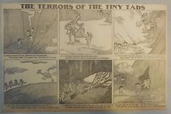 The Terrors of the Tiny Tads by Gustave Verbeek from ?1905Half Page Size!