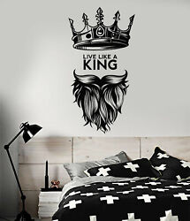Vinyl Wall Decal King Quote Man Cave Art Decor Bedroom Stickers Mural ig5167 $21.99