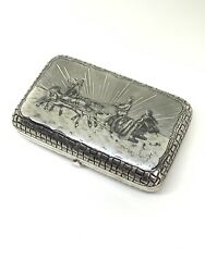 Imperial Russian Sterling Silver 84 Antique Cigarette Case (Hallmarked)