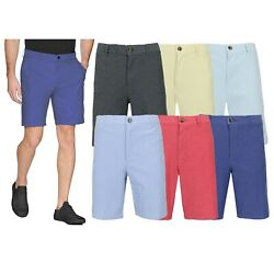 Mens Stretch Chino Shorts Flat Front 5 Pocket Summer Casual Slim Fit NEW 30-42