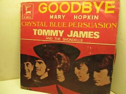 45RPM RARE Golden Deer No69094 MARY HOPKIN Goodbye TOMMY JAMES Crystal Blue 502A $99.92