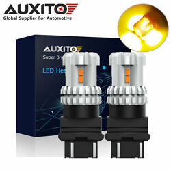 AUXITO 3157 3156 LED Yellow Turn Signal Light Bulbs Fit for 2004 2012 Ford F 150 $12.99