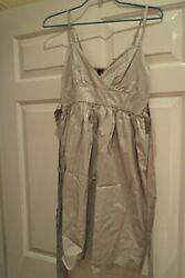 Topshop Womens Goldsilver Summer Party Dress size 8