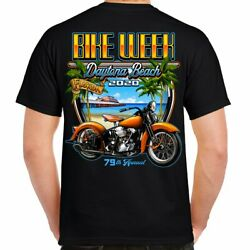 2020 Bike Week Daytona Beach Beach Shield T Shirt $8.24