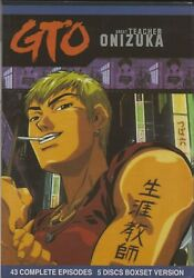GTO Great Teacher Onizuka Complete TV Series  Anime  Episodes 1-43 (DVD)