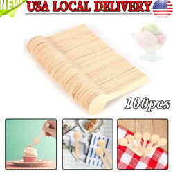 Wooden Spoons Wood Cereal Spoon kids Small Teaspoon Soup Ice Cream Gift NEW