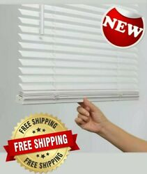1 in Cordless White Vinyl Light Filtering Mini Blinds multiple sizes $14.95