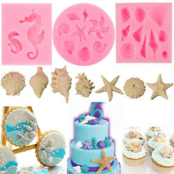 3D Ocean Sea Silicone Baking Fondant Cake Decorating Chocolate Mould Mold Tools