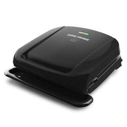 George Foreman 4-Serving Removable Plate Grill and Panini Press Black Black