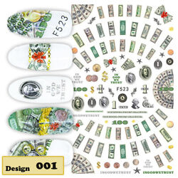 US Dollar.disney .etcNail Stickers 3D_Nail Art_Manicure Tips_Decals Decoration $3.25