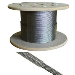 Stainless Steel Wire Rope Cable 7x7 Strand Core Vinyl Coated Wire Rope 250 Ft