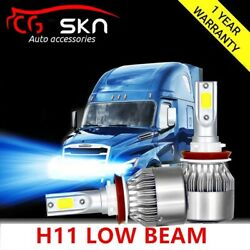 H11 8000K LED Bulb Kit for 2008-2017 Freightliner Cascadia Commercial Truck(LOW)