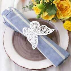 LUOEM 50Pcs Paper Napkin Ring Creative Napkin Bands for Wedding Party Festival