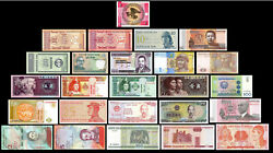 25 Pcs of Different Unique World Foreign BanknotesCurrency UNC. Lot + List $10.99