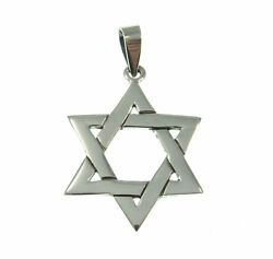 JewishHebrew STAR of DAVID Pendant Handcrafted in Solid 925 Sterling Silver