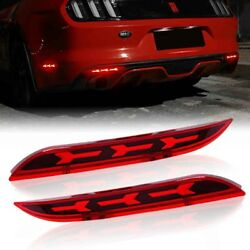 For 2015-2017 Ford Mustang LED Tail-Brake-Light w Rear Bumper Reflector Panel $29.99