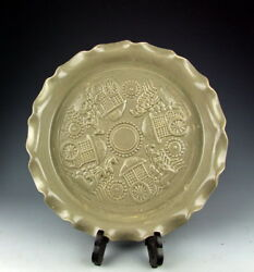Amazing China Antique Ru-Ware Porcelain Brush Washer with Ancient Carriage Deco